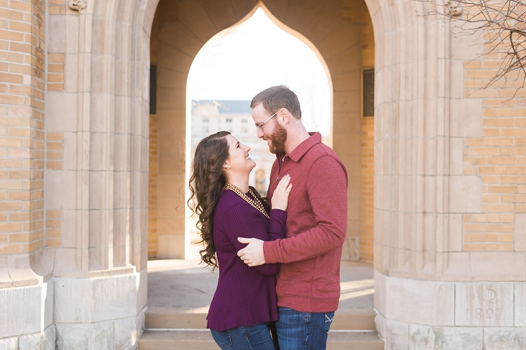 Ames ISU engagement session