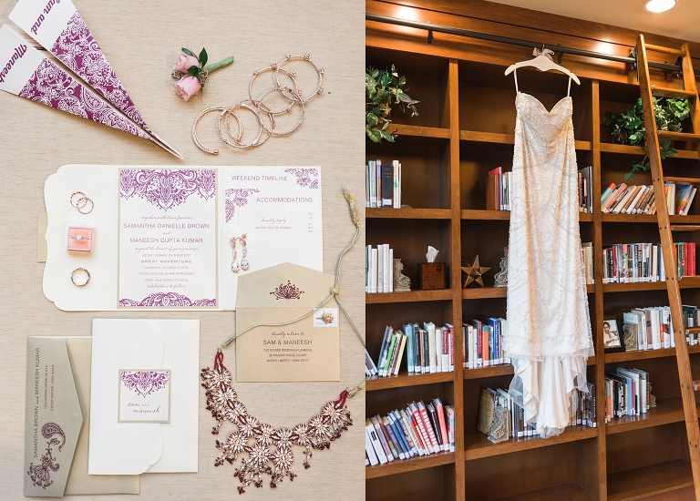 paper airplane wedding ceremony programs for an Indian wedding in Iowa